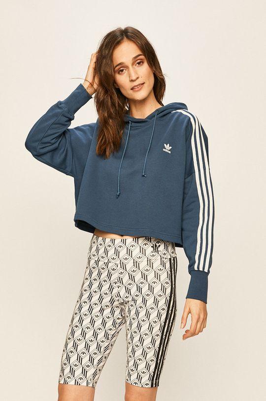 ocelová modrá adidas Originals - Mikina