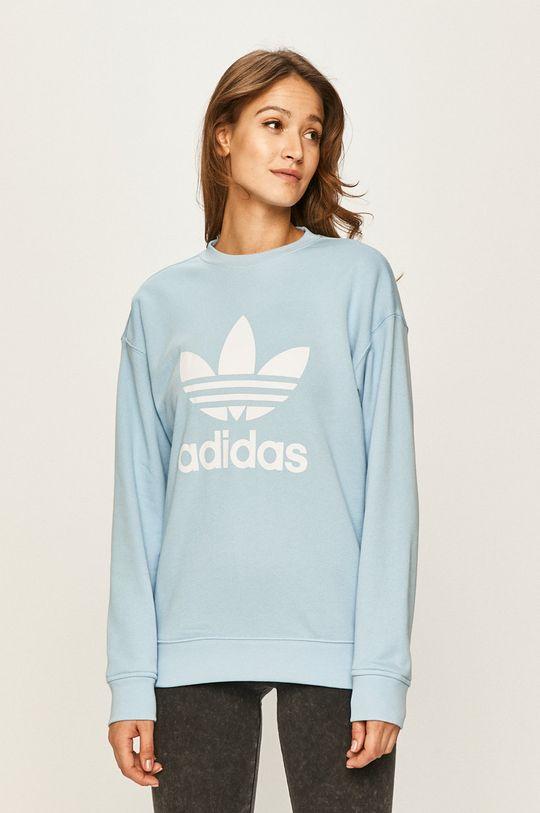 světle modrá adidas Originals - Mikina Dámský