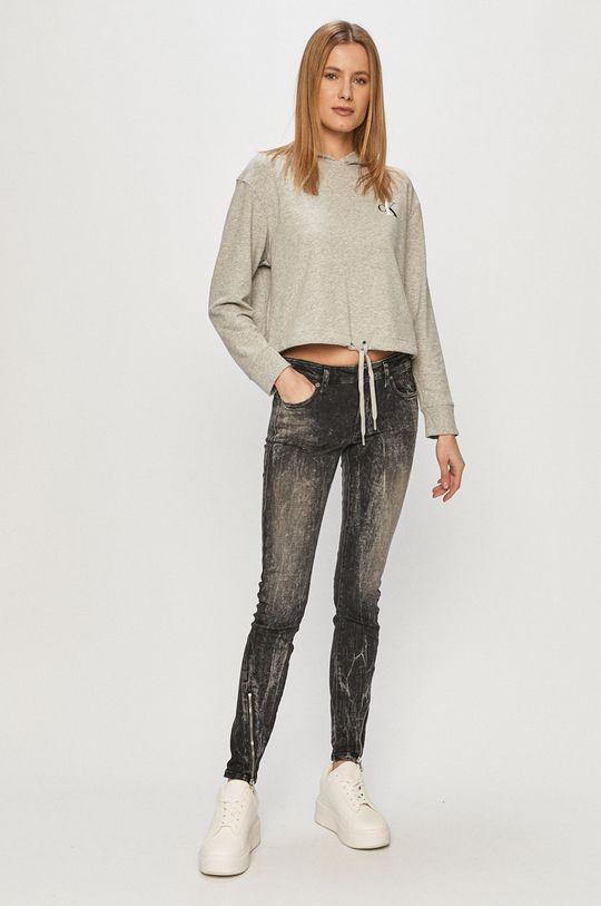 Calvin Klein Underwear - Bluza CK One gri deschis