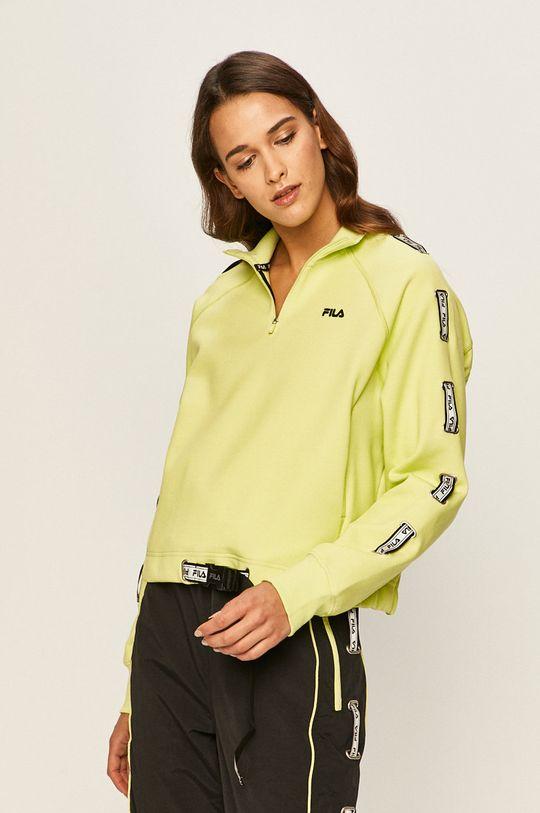 żółto - zielony Fila - Bluza