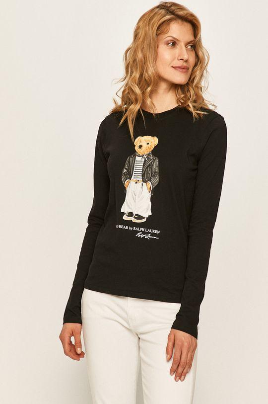 černá Polo Ralph Lauren - Tričko s dlouhým rukávem Dámský