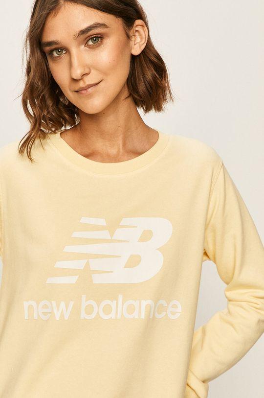 svetložltá New Balance - Mikina
