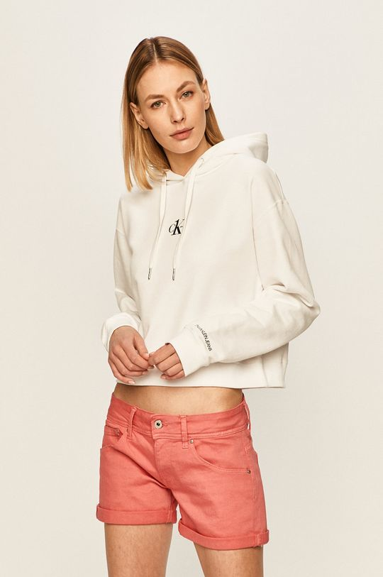 alb Calvin Klein Jeans - Bluza CK one De femei