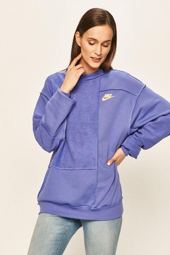 fialová Nike Sportswear - Mikina Dámský