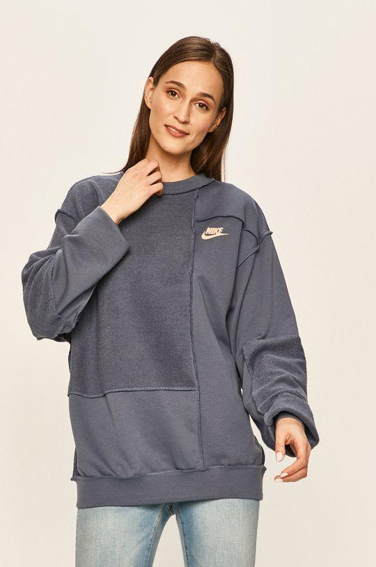 ocelová modrá Nike Sportswear - Mikina Dámský