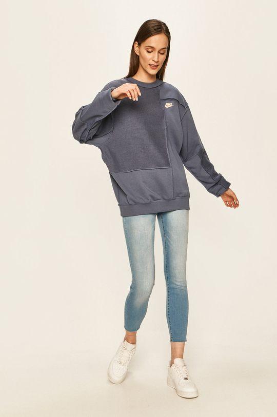 Nike Sportswear - Mikina ocelová modrá