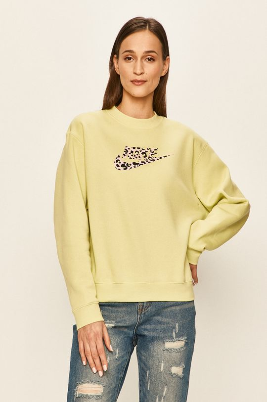 žlutě zelená Nike Sportswear - Mikina Dámský