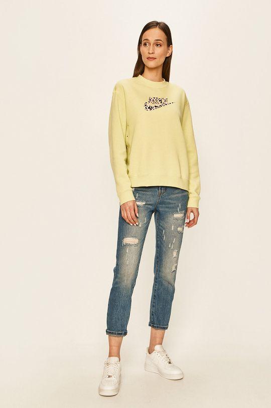 Nike Sportswear - Mikina žlutě zelená
