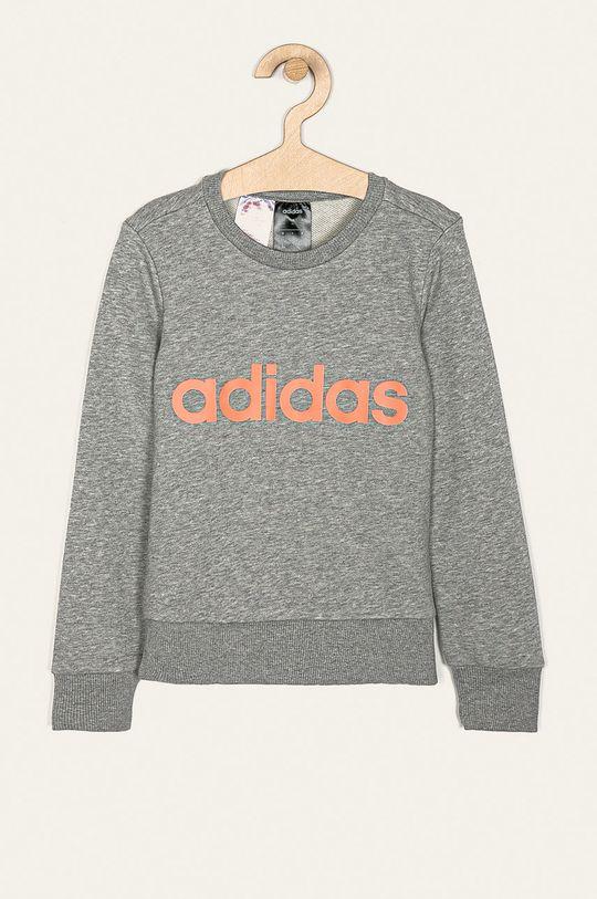 jasny szary adidas - Bluza dziecięca 110-170 cm Dziewczęcy