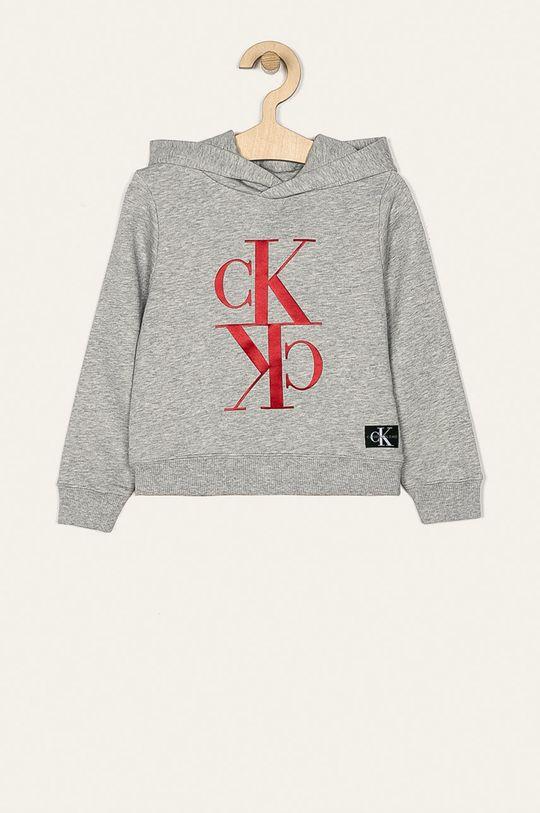 gri deschis Calvin Klein Jeans - Bluza copii 104-176 cm De fete