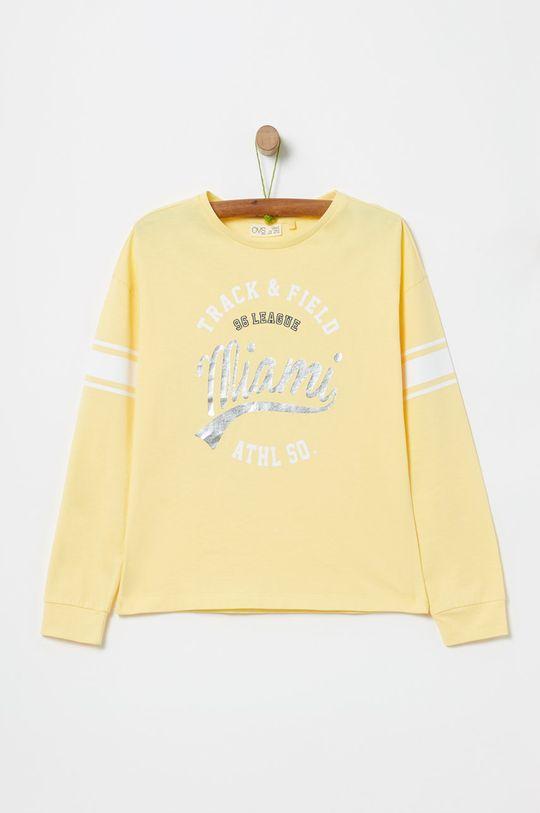 žltá OVS - Detské tričko s dlhým rukávom 146-170 cm Dievčenský