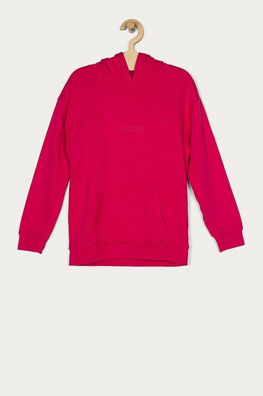 růžová Guess Jeans - Dětská mikina 113-126 cm Dívčí