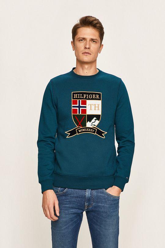 turcoaz Tommy Hilfiger - Bluza De bărbați