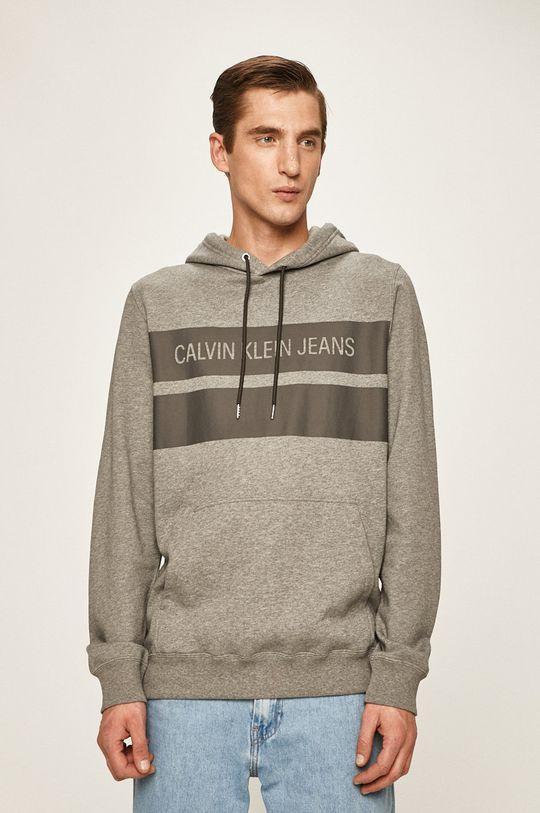 světle šedá Calvin Klein Jeans - Mikina Pánský
