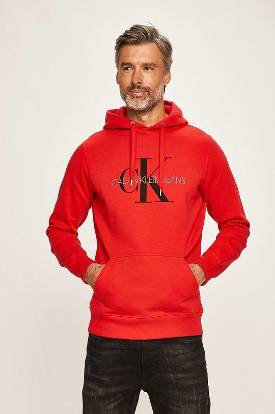 červená Calvin Klein Jeans - Mikina Pánský