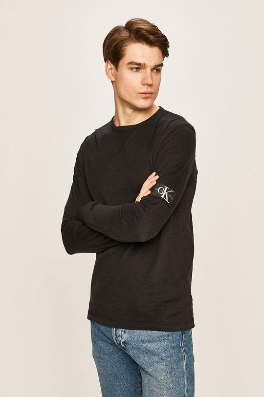 čierna Calvin Klein Jeans - Pánske tričko s dlhým rukávom Pánsky