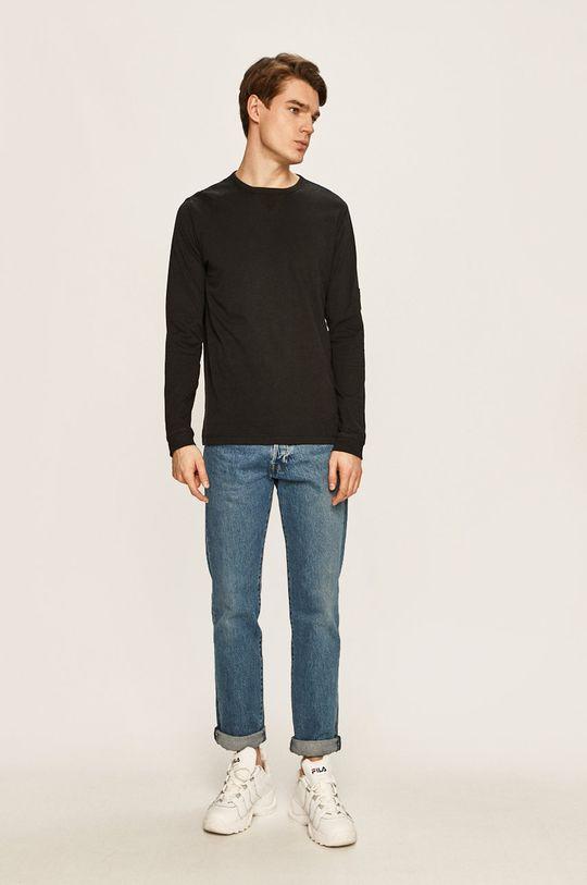 Calvin Klein Jeans - Pánske tričko s dlhým rukávom čierna