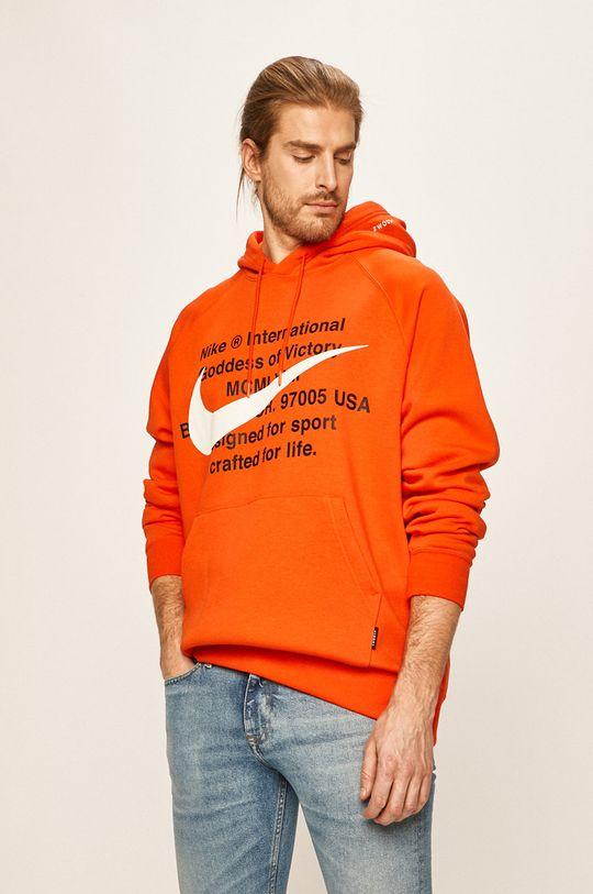 oranžová Nike Sportswear - Mikina Pánský