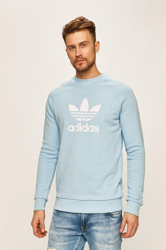 světle modrá adidas Originals - Mikina Pánský