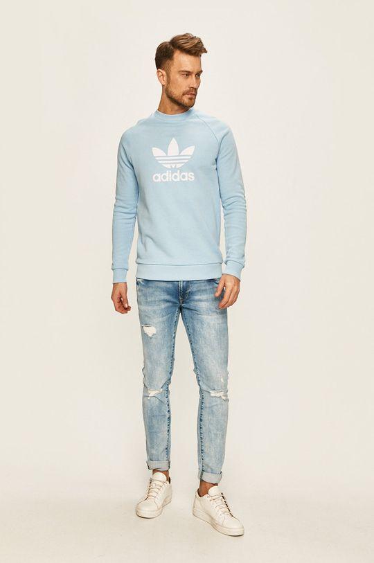 adidas Originals - Mikina světle modrá