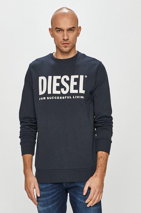 granatowy Diesel - Bluza bawełniana Męski