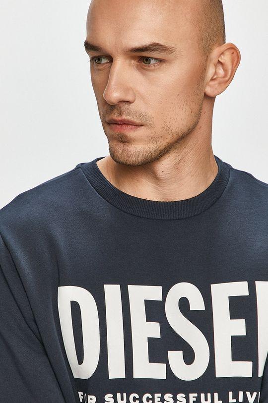 granatowy Diesel - Bluza bawełniana