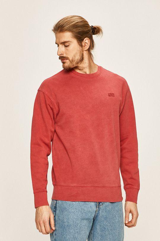 czerwony Levi's - Bluza Męski