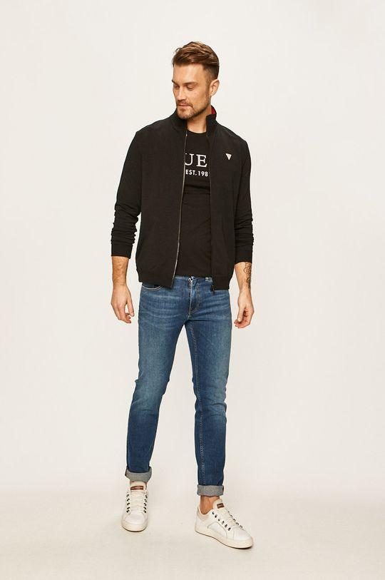 Guess Jeans - Mikina čierna