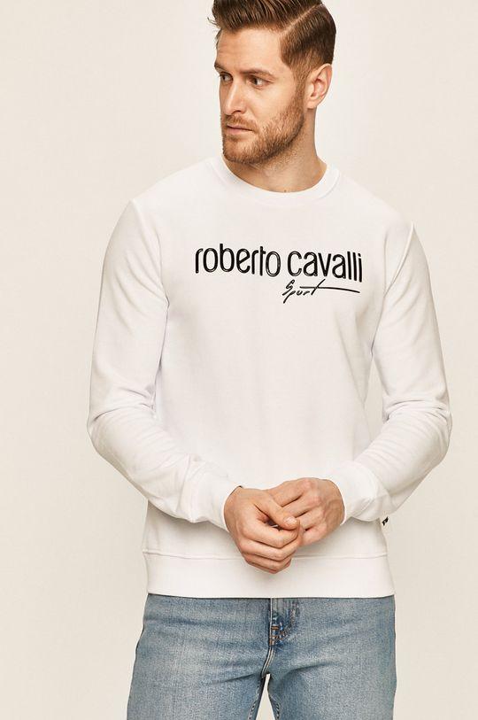 biały Roberto Cavalli Sport - Bluza Męski