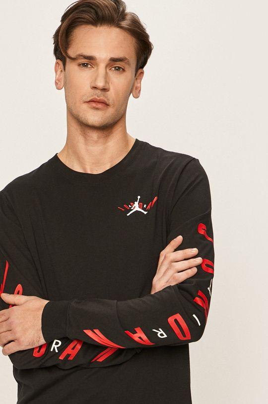 čierna Jordan - Pánske tričko s dlhým rukávom Pánsky