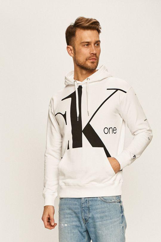 biela Calvin Klein Jeans - Mikina CK One Pánsky