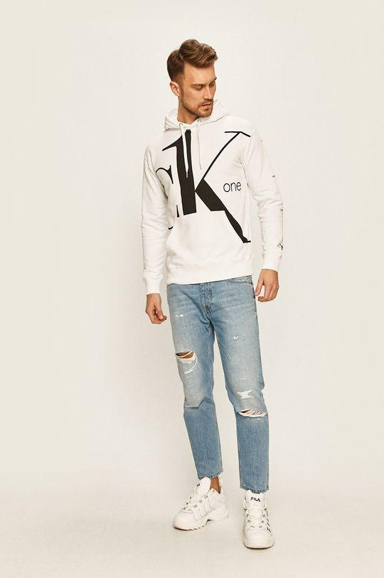 Calvin Klein Jeans - Bluza CK One alb