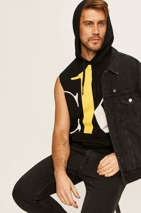čierna Calvin Klein Jeans - Mikina CK One Pánsky