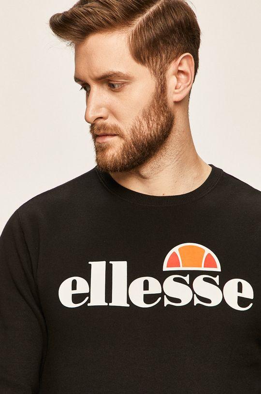 czarny Ellesse - Bluza Męski