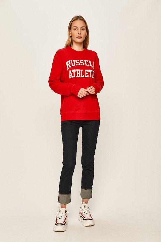 Russell Athletic - Mikina červená