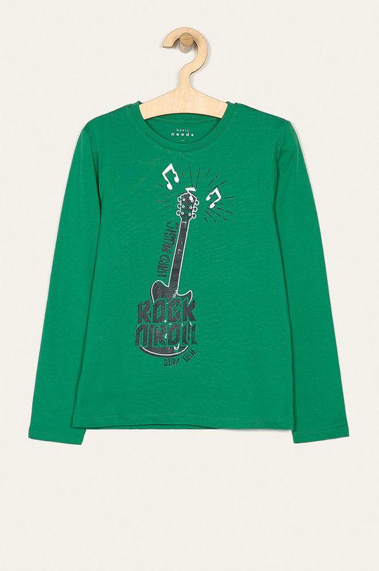 zelená Name it - Dětské tričko s dlouhým rukávem 122-164 cm Chlapecký