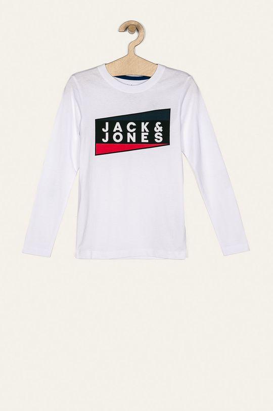 alb Jack & Jones - Longsleeve copii 128-176 cm De băieți