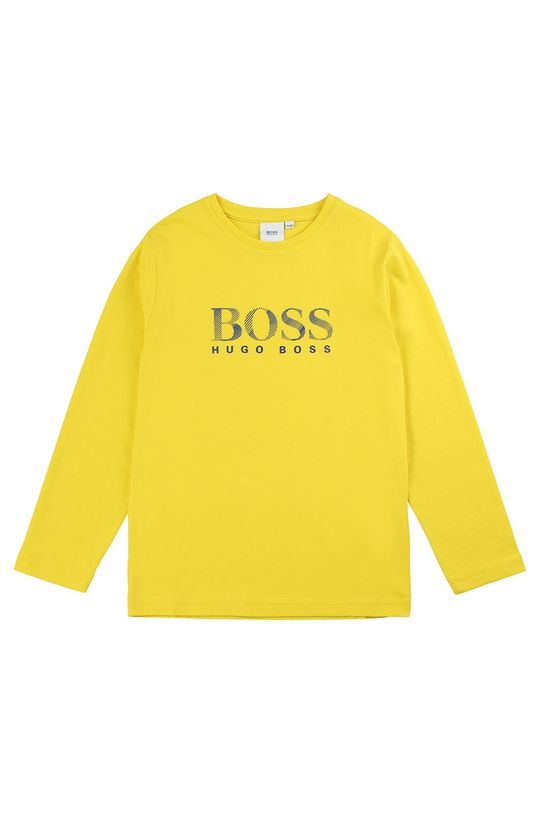 jasně žlutá Boss - Dětské tričko s dlouhým rukávem 116-152 cm Chlapecký