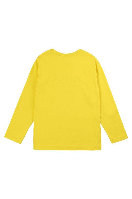 Boss - Dětské tričko s dlouhým rukávem 116-152 cm jasně žlutá