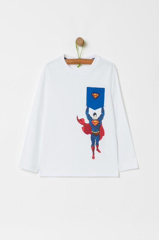 biela OVS - Detské tričko s dlhým rukávom x Superman 104-134 cm Chlapčenský