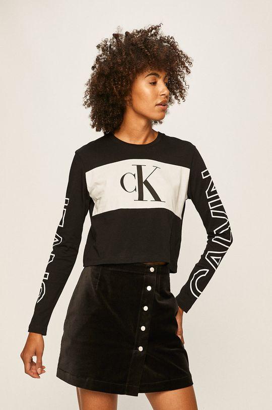 negru Calvin Klein Jeans - Longsleeve De femei