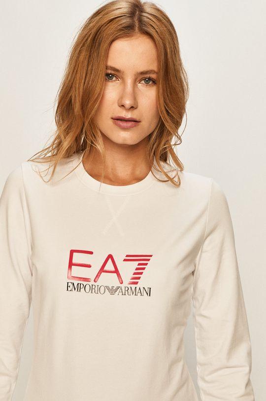 bílá EA7 Emporio Armani - Mikina