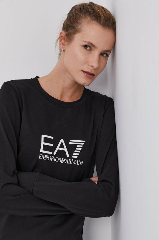 czarny EA7 Emporio Armani - Bluza Damski