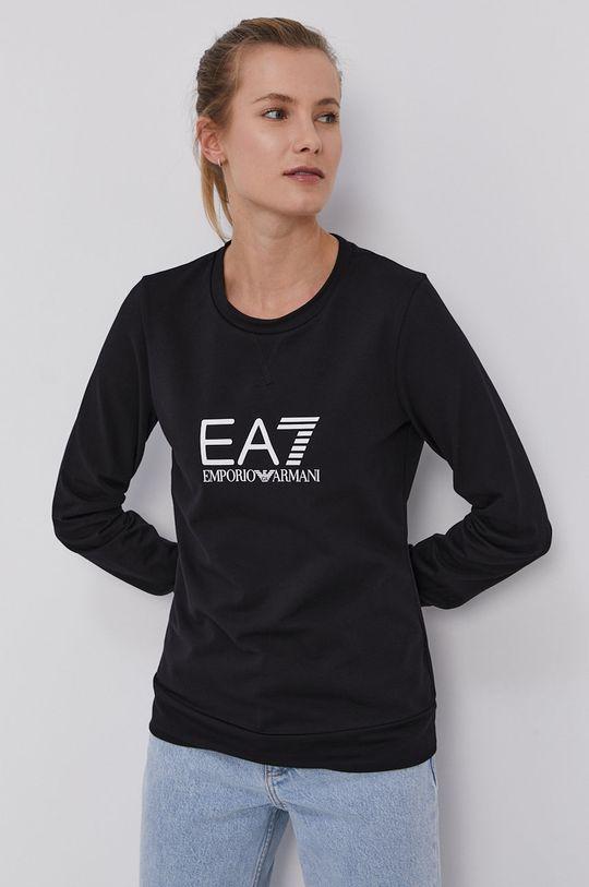 czarny EA7 Emporio Armani - Bluza