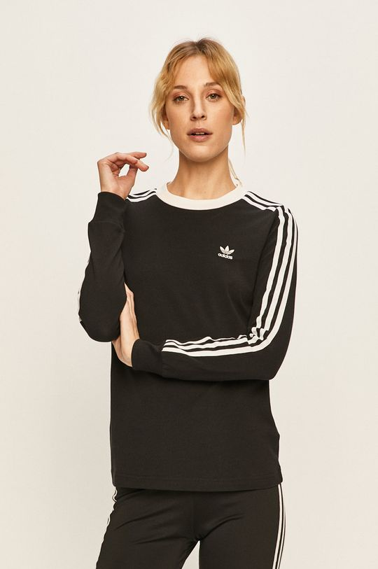černá adidas Originals - Tričko s dlouhým rukávem Dámský