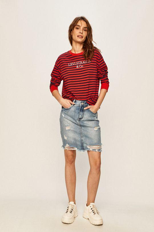 Levi's - Tričko s dlhým rukávom červená