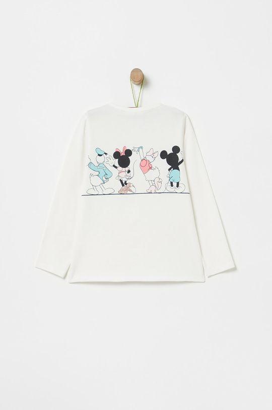 OVS - Detské tričko s dlhým rukávom 74-98 cm biela