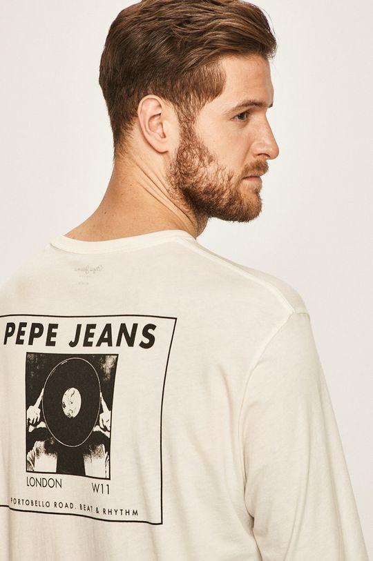 alb Pepe Jeans - Longsleeve Bollin De bărbați