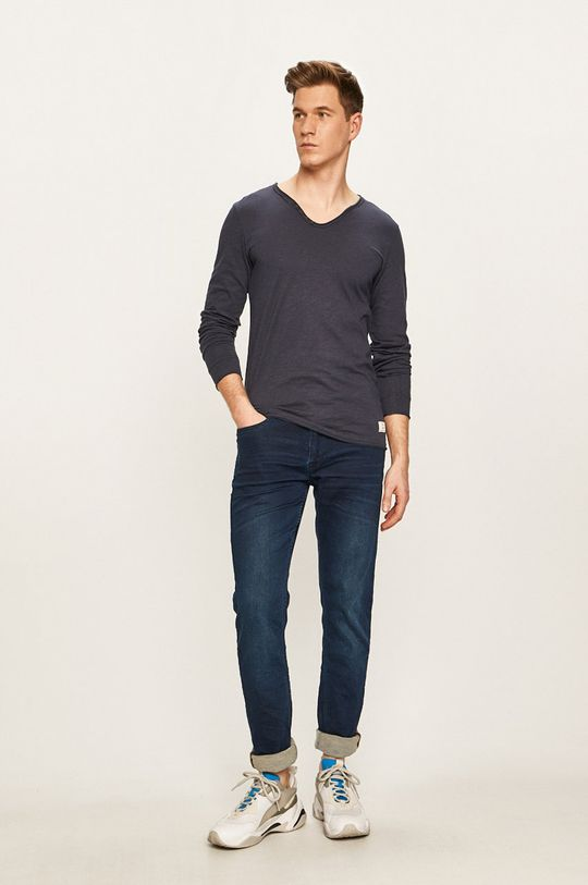 Premium by Jack&Jones - Tričko s dlouhým rukávem námořnická modř