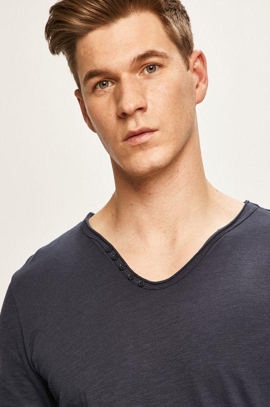 námořnická modř Premium by Jack&Jones - Tričko s dlouhým rukávem